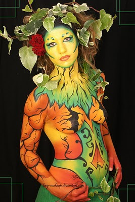 Leaf And Root Body Painting