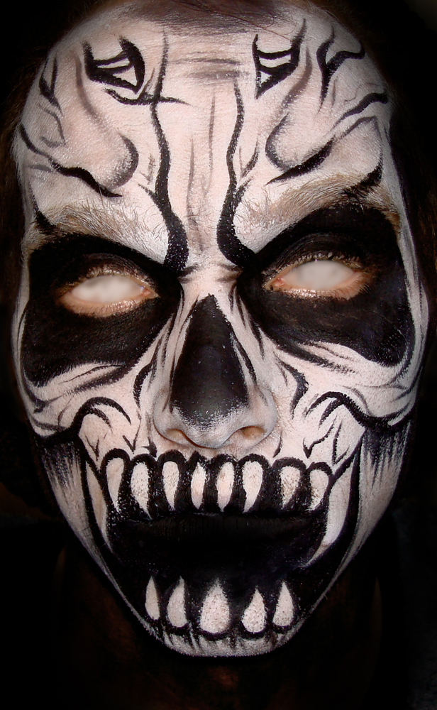 Scary Halloween Face Painting http://picsbox.biz/key/paint%20scary%20faces