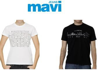 mavi2 - Mavi Jeans �stanbul T-shirt 'leri