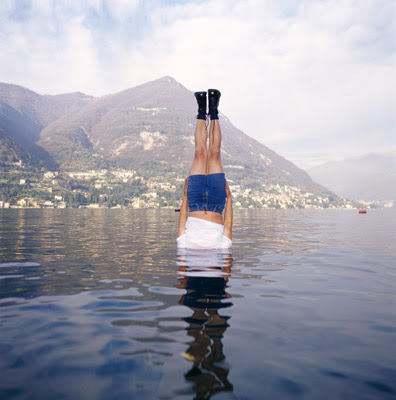 Lei Wei photo a man floating in the lake