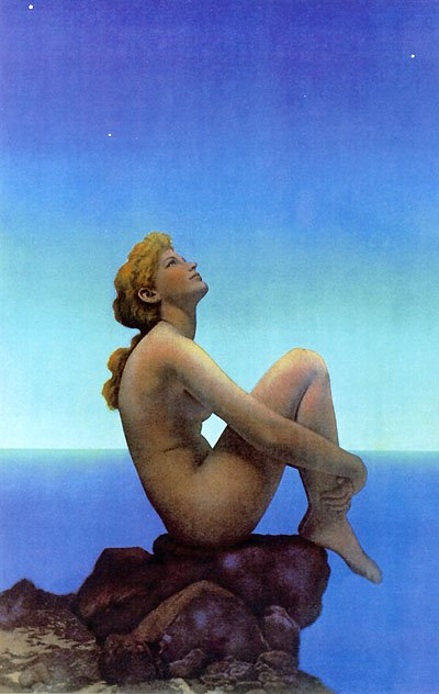 is a Maxfield Parrish blue