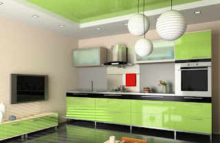 Modern Decoration Green Kitchens Design