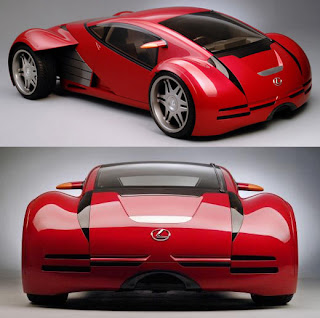 New Modern Design Futuristic Lexus Future (2002) Concept Car for Future