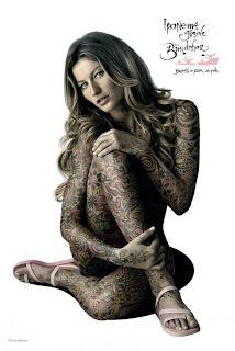 Gisele Bundchen full body tattoo
