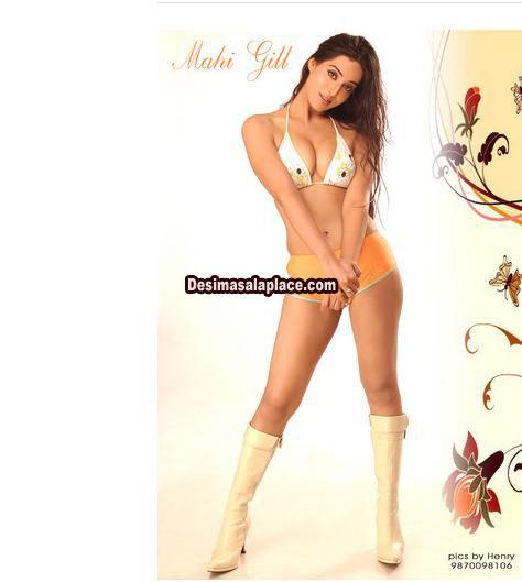 Mahi Gill in Sexy Bikini and Hot legs Show