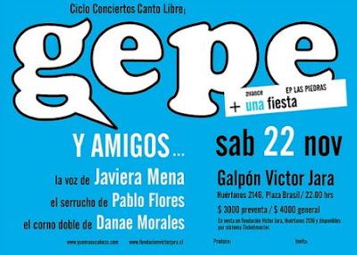 Gepe y amigos - Galpón Victor Jara, en vivo 22 de noviembre