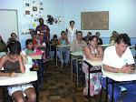 A parceria entre escola e comunidade é fundamental para o desenvolvimento do trabalho.