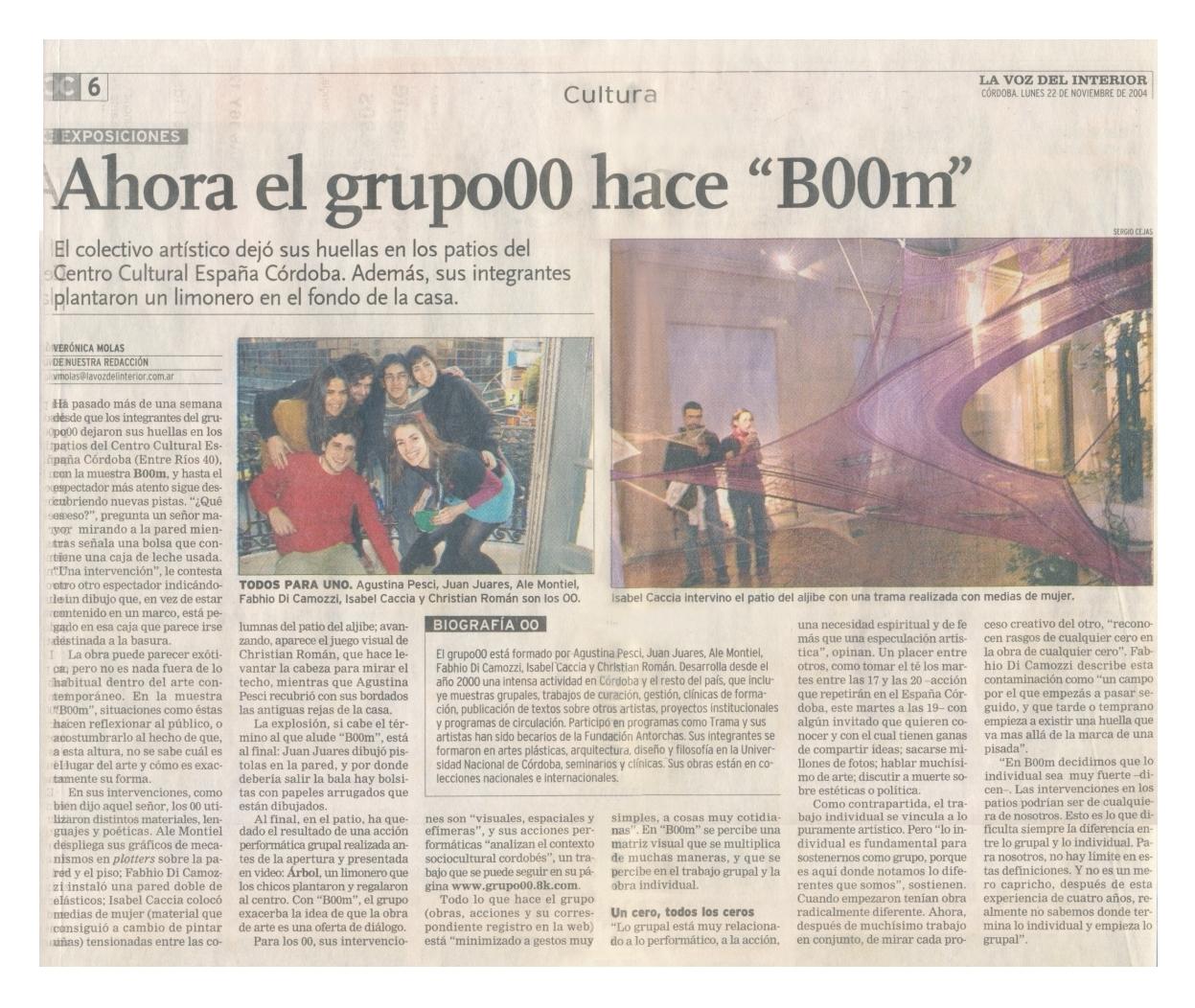 la voz del interior.córdoba.noviembre2004