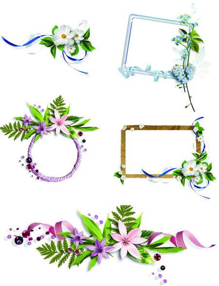 Vector flowers box pattern 1