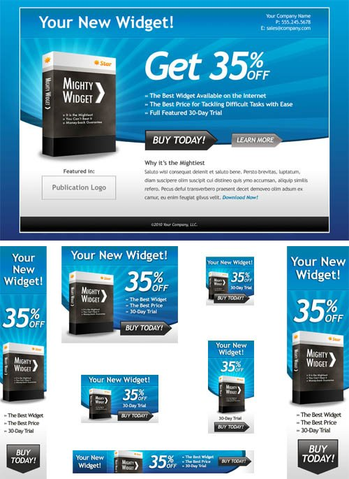 Web Banners - PSD Templates