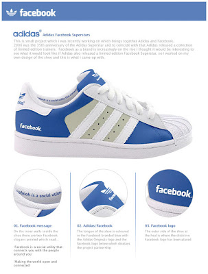 adidas facebook shoes Facebook ou Twitter? No seus pés.