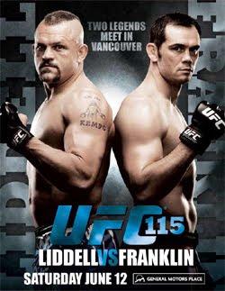 UFC 115 poster