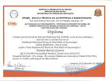 *Diplomas e Certificados* Massoterapia