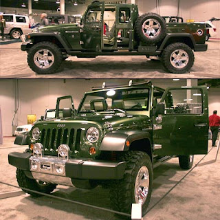 Then, in '05, Jeep introduced a new Gladiator concept: