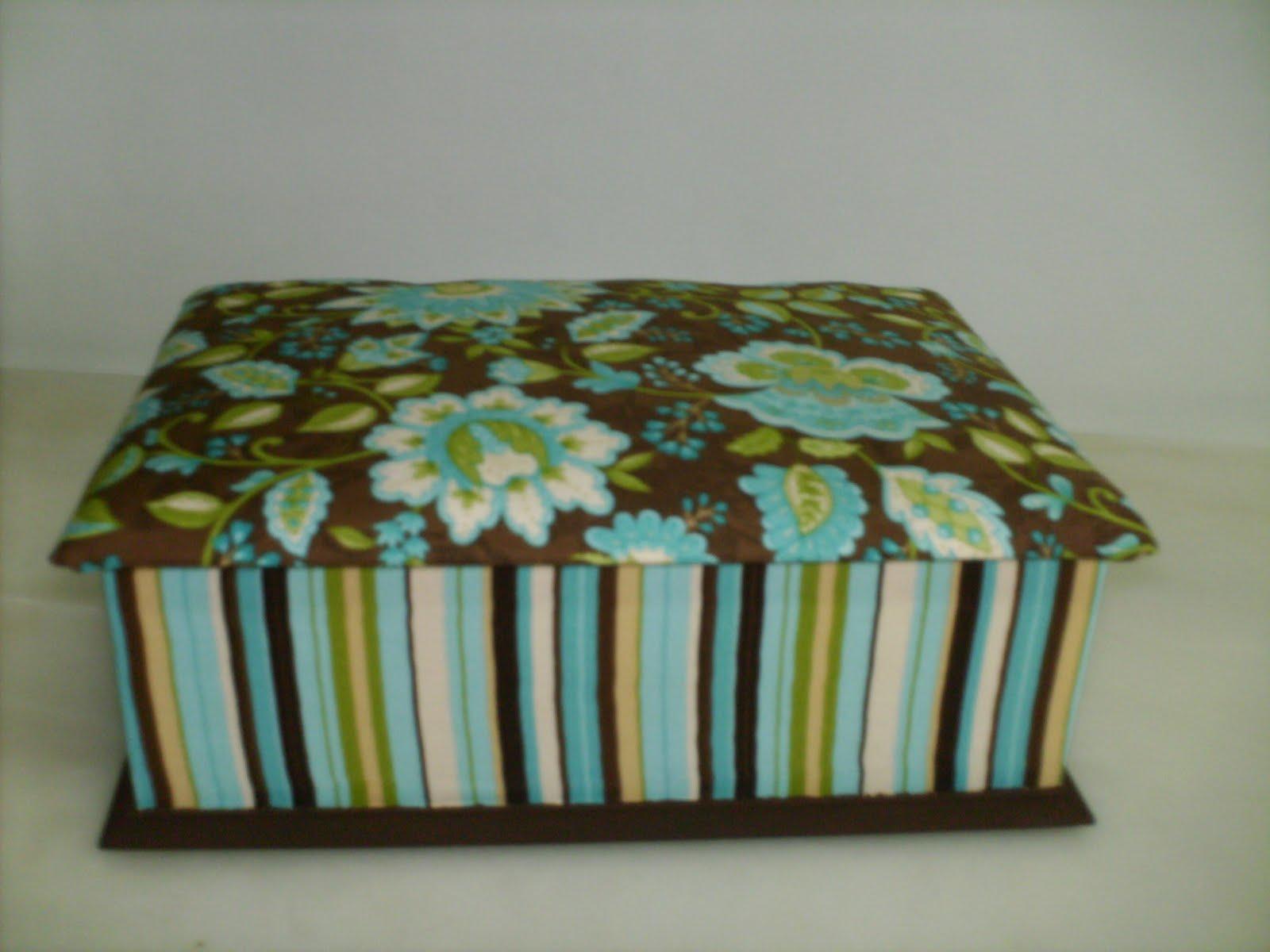 ARTEMANIA: Caixa de madeira forrada a tecido #5B4927 1600x1200