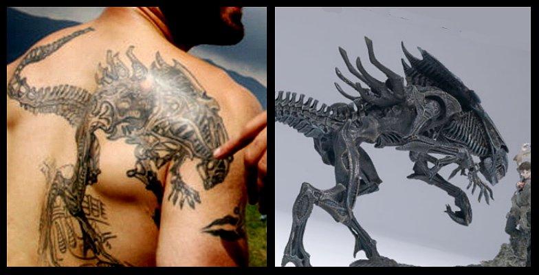 turkish tattoos. ALIEN TATTOO OF THE DAY: