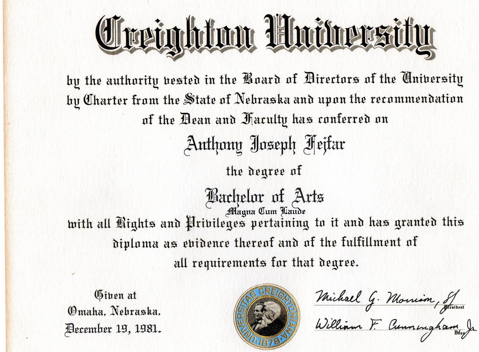 Law order college degrees