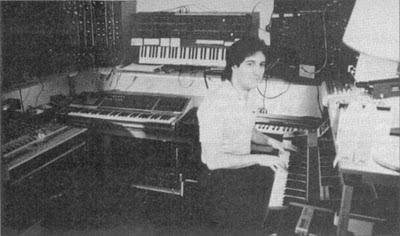 El Synergy Studio de Larry Fast durante la grabación de Metropolitan Suite
