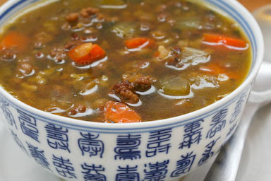 Lentil Soup with Ground Beef