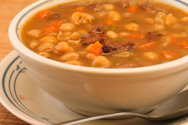 Kalyn's Kitchen®: Garbanzo and White Bean Soup Recipe with ...