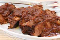 Easy Slow Cooker Southwestern Pot Roast found on KalynsKitchen.com