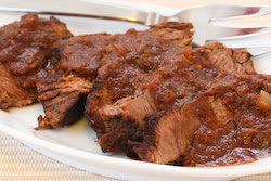 Easy Slow Cooker Southwestern Pot Roast found on KalynsKitchen.com