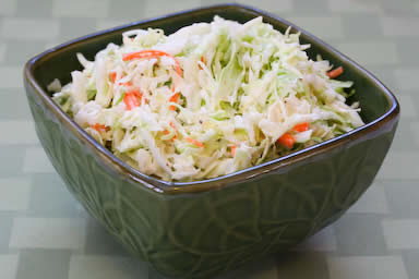 Sugar-Free Coleslaw with Agave
