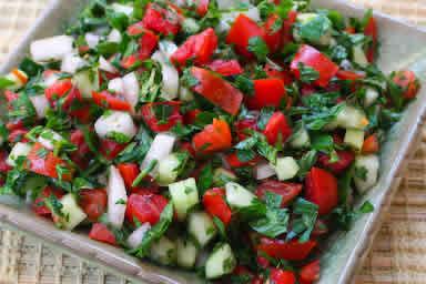 Recipe Favorites: Middle Eastern Tomato Salad (Salad Shirazi) | Kalyn ...
