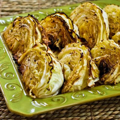 Roasted Cabbage with Lemon [KalynsKitchen.com]