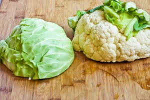 Pureed Cauliflower and Cabbage with Green Onions and Parmesan (Low ...