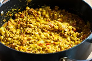 ... Ground Chicken (or Turkey) and Chickpea Curry Stew with Yogurt and