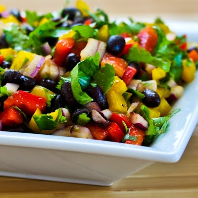 Kalyn's Kitchen®: Black Bean and Pepper Salad with Cilantro and Lime