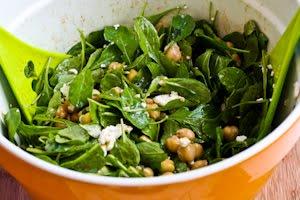 Arugula Chickpea Salad with Feta and Balsamic-Tahini ...