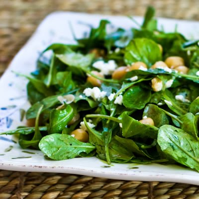 This Arugula Chickpea Salad with Feta and Balsamic-Tahini vinaigrette ...