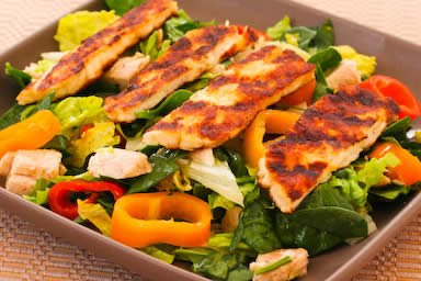Grilled Halloumi Salad