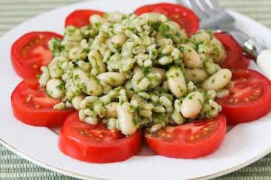 Barley and White Bean Salad