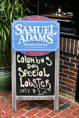 Sign advertising lobster