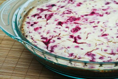 Low-Sugar Raspberry Cheesecake
