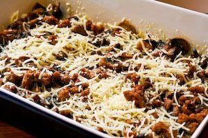Breakfast Casserole Recipe with Sweet Italian Sausage, Mushrooms, and ...