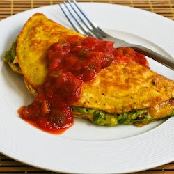 Recipe for Southwestern Omelet with Easy Guacamole and Salsa | Kalyn's ...