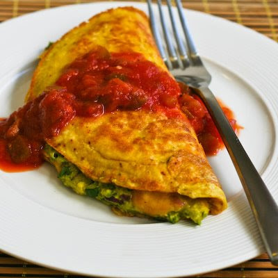 ... Southwestern Omelet with Easy Guacamole and Salsa | Kalyn's Kitchen