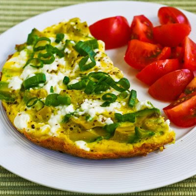 Feta Cheese and Avocado Mini-Frittata for Two