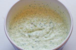 How to Make the World's Best Tzatziki Sauce found on KalynsKitchen.com