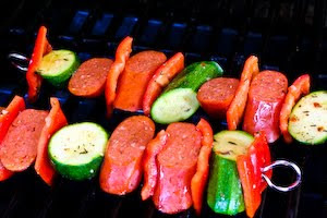 Kalyn's Kitchen®: World's Easiest Kabobs with Grilled Zucchini and ...