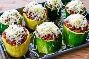 Kalyn's Kitchen®: Meat, Tomato, and Mozzarella Stuffed Zucchini Cups