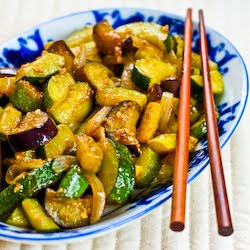 ... Vegetable Stir Fry Recipe with Eggplant, Zucchini, and Yellow Squash
