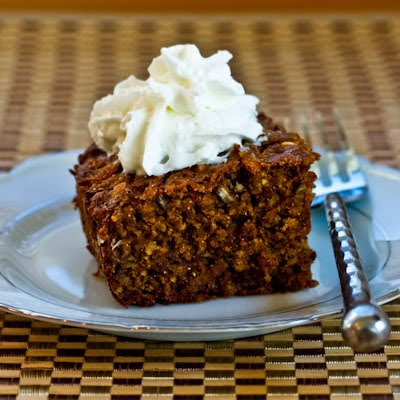 Low-Sugar Whole Wheat and Oatmeal  Spice Cake with Fuyu Persimmons