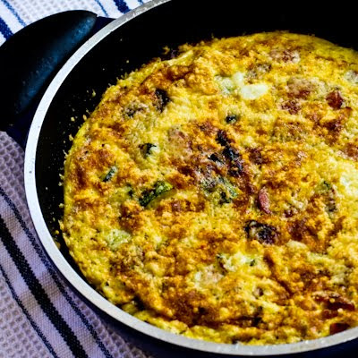 Frittata with Zucchini, Sun-Dried Tomatoes and Sausage
