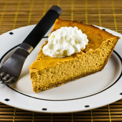 Low-Sugar Pumkin Cheesecake Pie