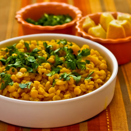 Lemony Yellow Split Pea Side Dish